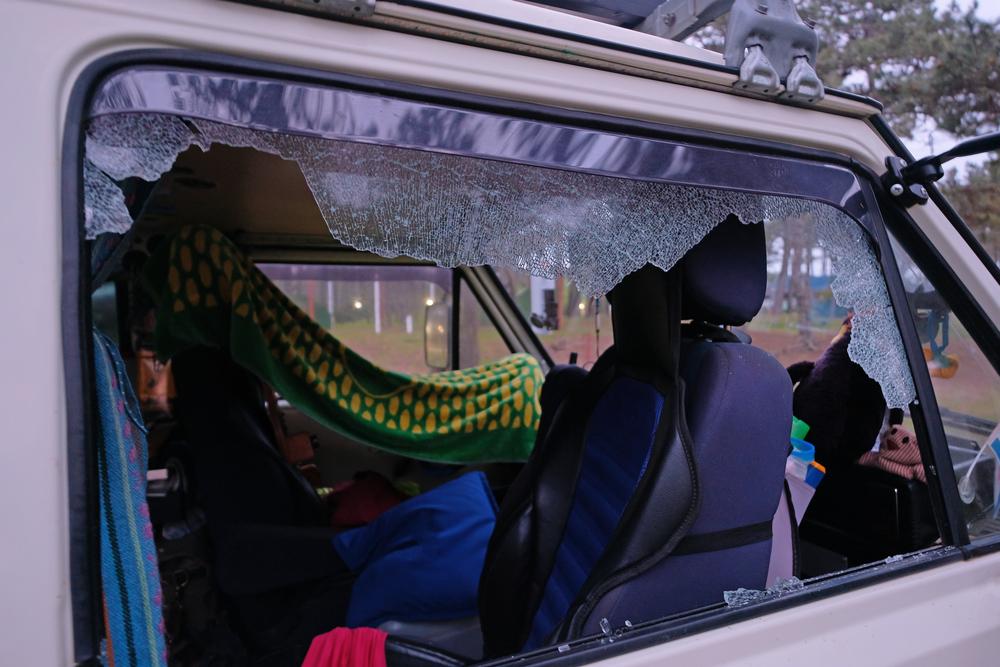 Caravan schade
